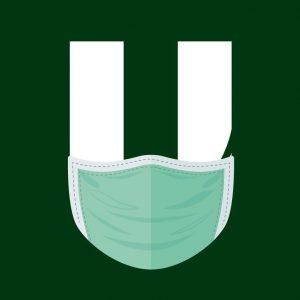 Logo da Unoeste com máscara